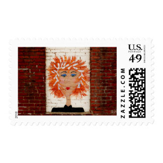Red Headed Woman Postage
