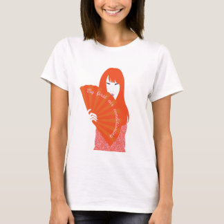 red headed woman with fan T-Shirt