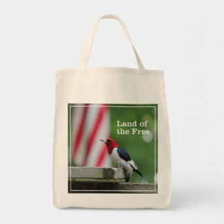 Red-headed Woodpecker Grocery Tote Bag