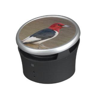 Red-headed Woodpecker on fence Bluetooth Speaker