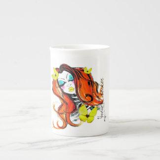 Red Heads & Butterflies Cup