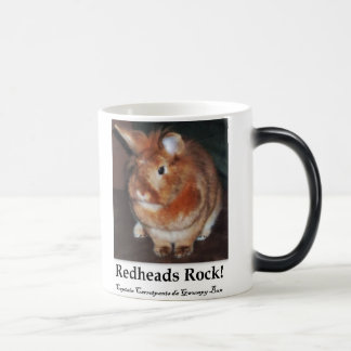 Red Heads Rock! Disapproving Bunny Rabbit Mug