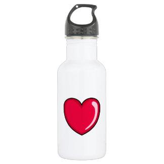 Red Heart 18oz Water Bottle
