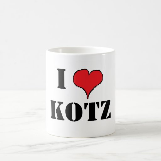 RED HEART 1, I, KOTZ COFFEE MUG