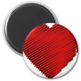 Red Heart 2 Inch Round Magnet