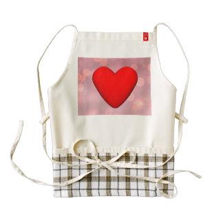 Red heart - 3D render Zazzle HEART Apron