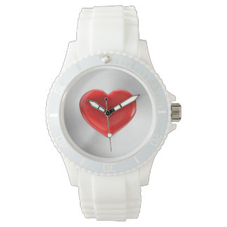 Red Heart Accent Watch
