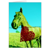 Red Heart and  Horse Card