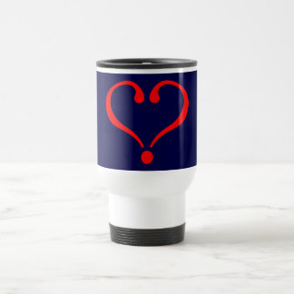Red heart and love opened in day of San Valentin Travel Mug