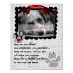 Red Heart and Poem Dog Pet Memorial Photo Poster