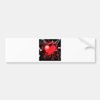 Red Heart and Vessels Bumper Sticker