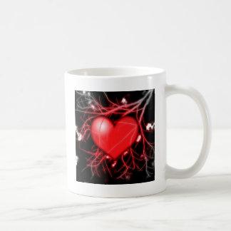 Red Heart and Vessels Coffee Mug