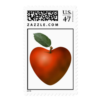 Red Heart Apple Postage