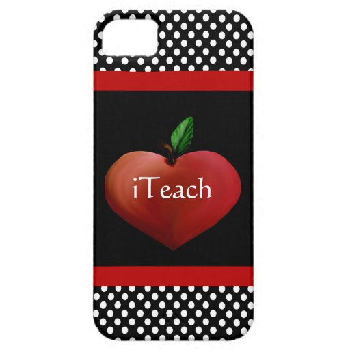 Red Heart Apple Teacher's iPhone 5 Case iPhone 5 Case