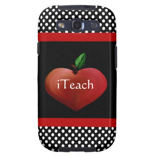 Red Heart Apple Teacher's Samsung Galaxy S3 Case