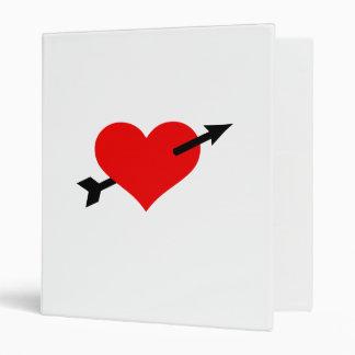 Red heart arrow vinyl binder