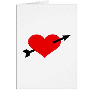 Red heart arrow card