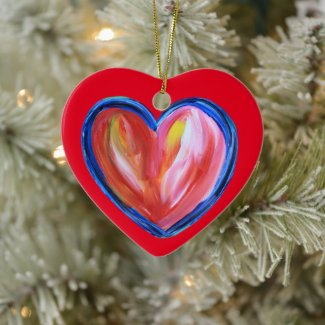 Red Heart Art Custom Holiday Gift Ornaments