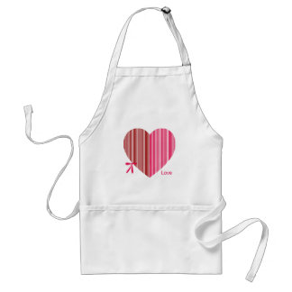 red heart as a gift for a St. Valentine's Day Adult Apron