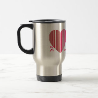 red heart as a gift for a St. Valentine's Day Travel Mug