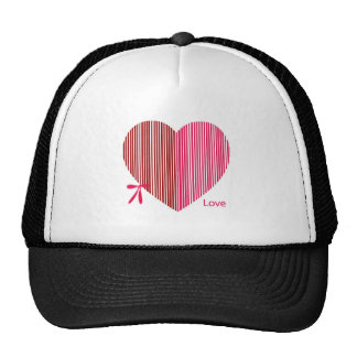 red heart as a gift for a St. Valentine's Day Trucker Hat
