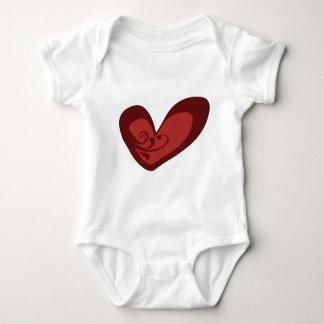 Red Heart Baby Bodysuit