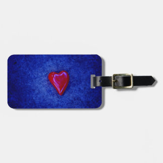 red heart bag tag