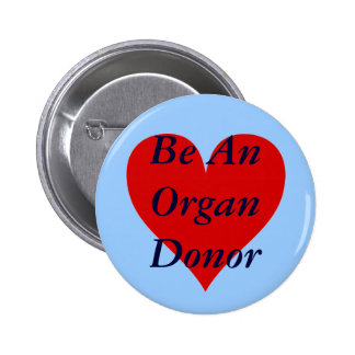 Red Heart Be An Organ Donor Pin