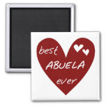 Red Heart Best Abuela Ever T-shirts and Gifts Magnets
