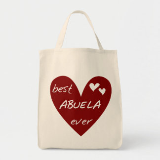 Red Heart Best Abuela Ever T-shirts and Gifts Tote Bag
