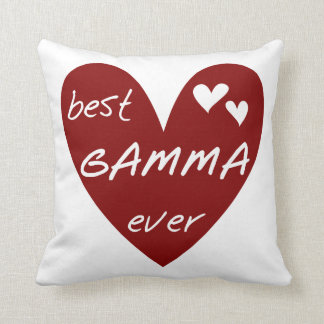 Red Heart Best Gamma Ever Gifts Pillows