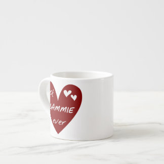 Red Heart Best Gammie Ever Gifts 6 Oz Ceramic Espresso Cup