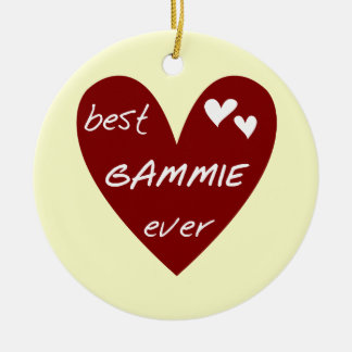 Red Heart Best Gammie Ever Tshirts and Gifts Ceramic Ornament