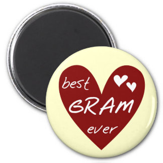 Red Heart Best Gram Ever Tshirts and Gifts Fridge Magnets