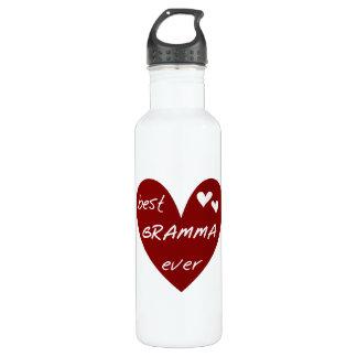 Red Heart Best Gramma Ever Liberty Water Bottle