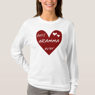 Red Heart Best Gramma Ever T-shirts and Gifts