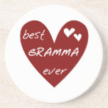 Red Heart Best Gramma Ever T-shirts and Gifts Coasters