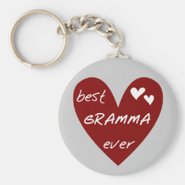 Red Heart Best Gramma Ever T-shirts and Gifts Keychain