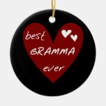 Red Heart Best Gramma Ever T-shirts and Gifts Christmas Tree Ornament