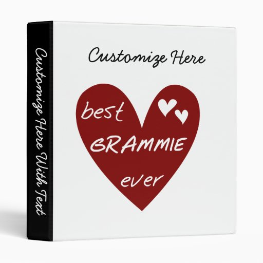 Red Heart Best Grammie Ever T-shirts and Gifts 3 Ring Binder