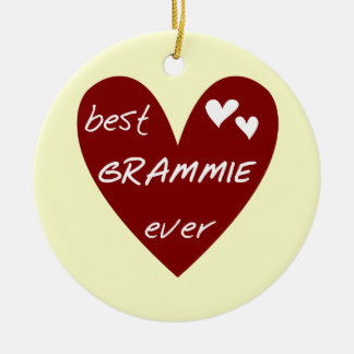 Red Heart Best Grammie Ever T-shirts and Gifts Ceramic Ornament