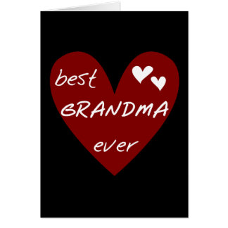 Red Heart Best Grandma Ever T-shirts and Gifts Card