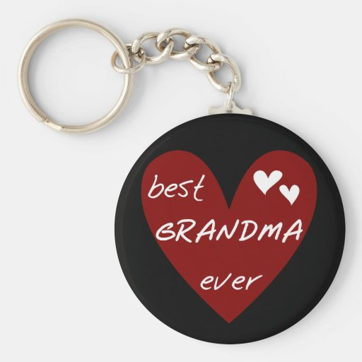 Red Heart Best Grandma Ever T-shirts and Gifts Key Chain