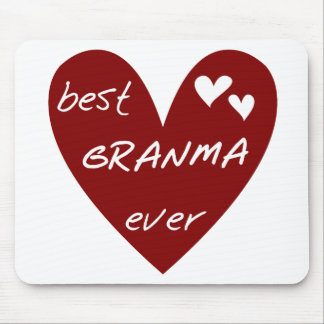 Red Heart Best Granma Ever T-shirts and Gifts Mouse Pad