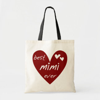 Red Heart Best Mimi Ever Tshirts and Gifts Tote Bag