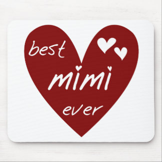 Red Heart Best Mimi Ever Tshirts and Gifts Mouse Pad