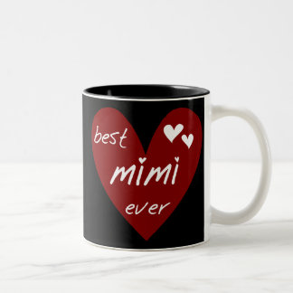 Red Heart Best Mimi Ever Tshirts and Gifts Mug
