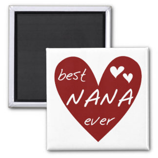 Red Heart Best Nana Ever T-shirts and Gifts Magnet