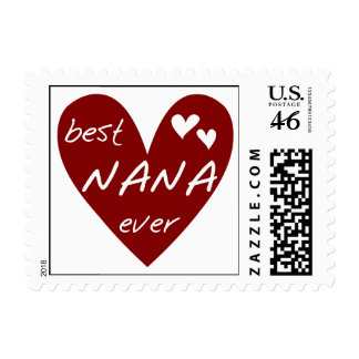 Red Heart Best Nana Ever T-shirts and Gifts Stamps