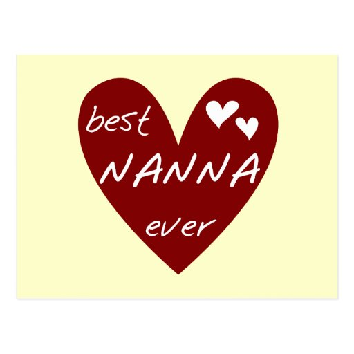Red Heart Best Nanna Ever t-shirts and Gifts Post Card